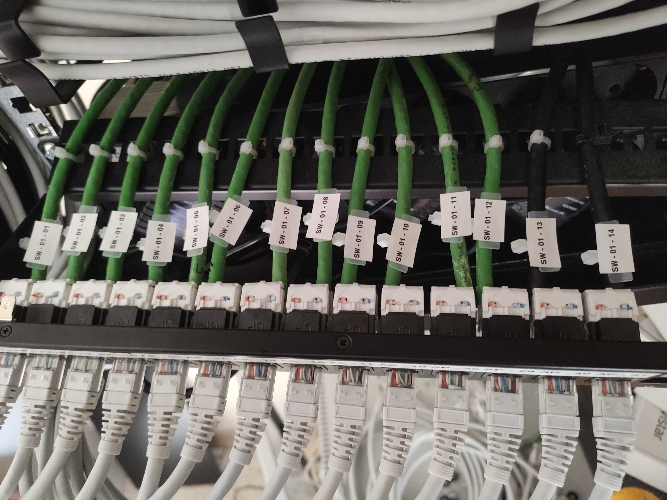 Configuración de cable de red